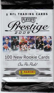 2009 Playoff Prestige Football Retail 100 Pack Lot