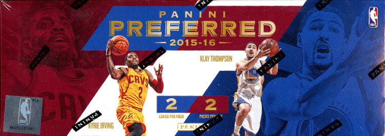 2015-16 Panini Preferred Basketball Hobby 8-Box Case