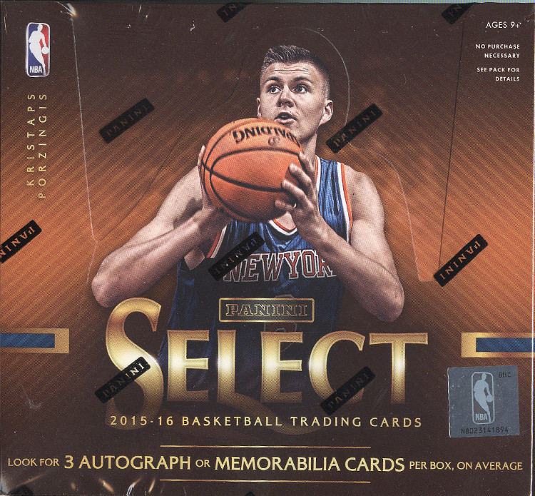 2015-16 Panini Select Basketball Hobby 12-Box Case
