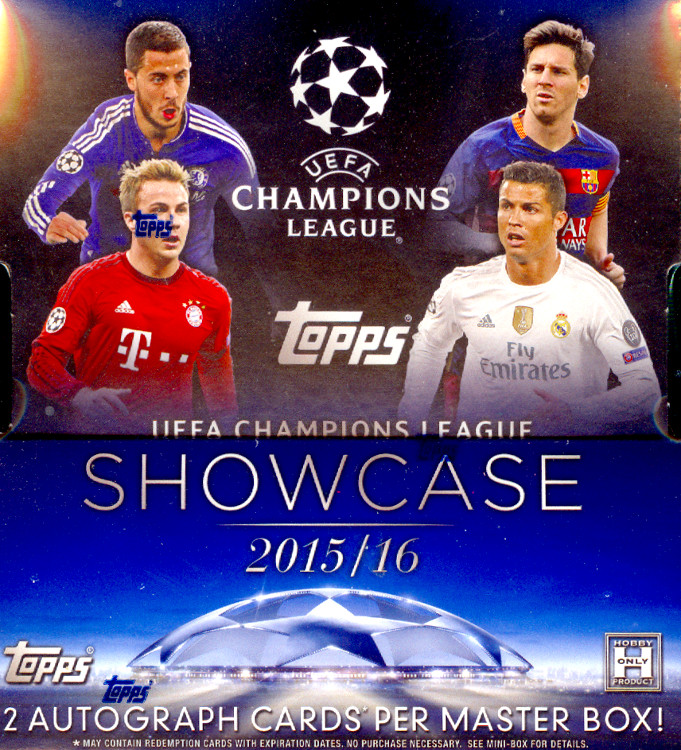 2016 Topps UEFA Champions League Showcase Soccer Hobby Case