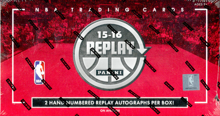 2015-16 Panini Replay Basketball Hobby 10-Box Case