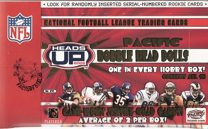 2002 Pacific Heads Up Football Box