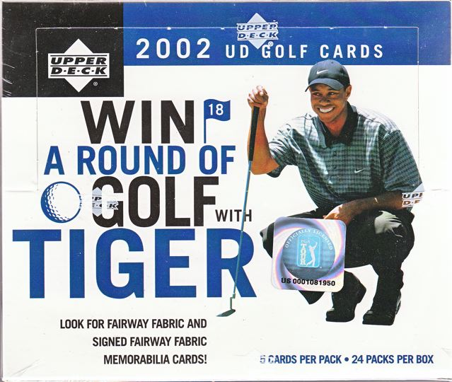 2002 Upper Deck Golf 4-Box Case