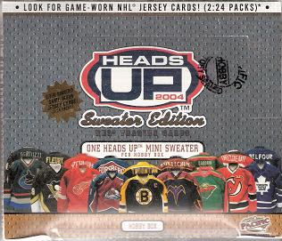 2003-04 Pacific Heads Up Sweater Edition Hockey Box