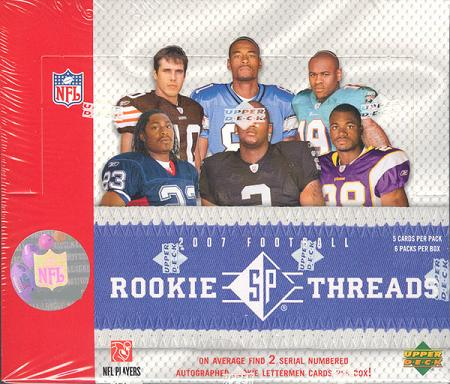 2007 Upper Deck SP Rookie Threads Football 10-Box Case