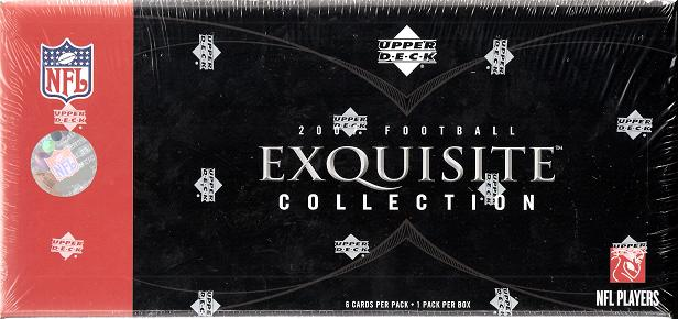 2007 Upper Deck Exquisite Collection Football 3-Box Case