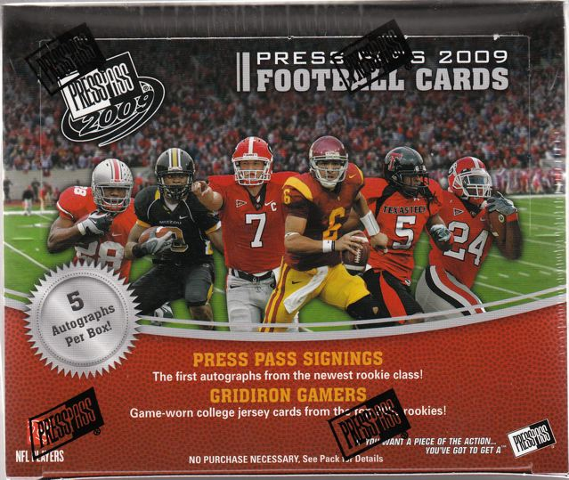 2009 Press Pass Football 10-Box Case