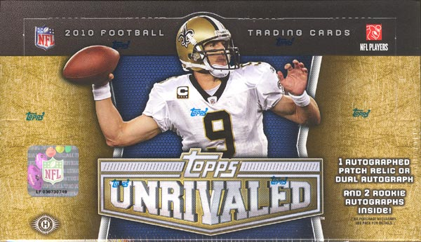 2010 Topps Unrivaled Football 6-Box Case