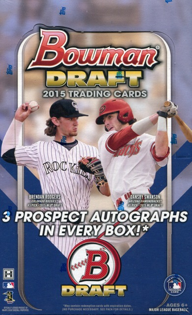 2015 Bowman Draft Picks Baseball Jumbo Box