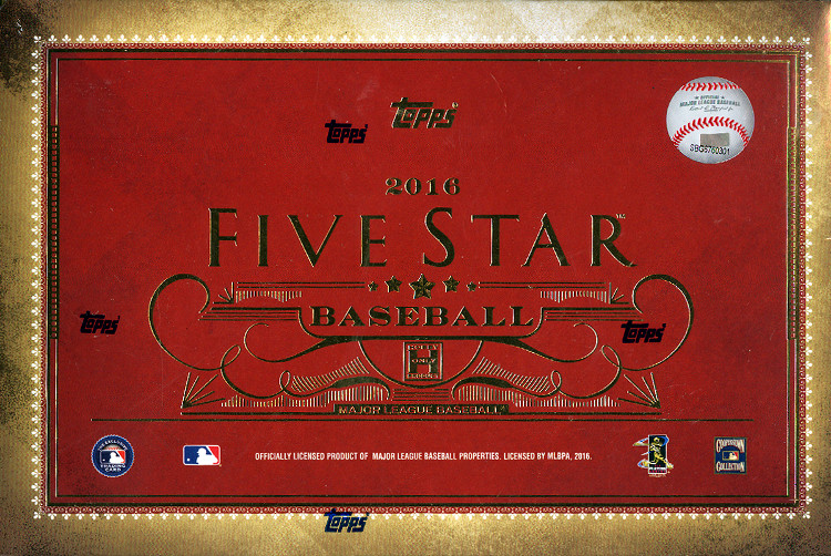 2016 Topps Five Star Baseball Hobby Box