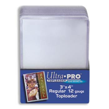 Ultra Pro 3x4 Regular Toploaders - 25ct Pack