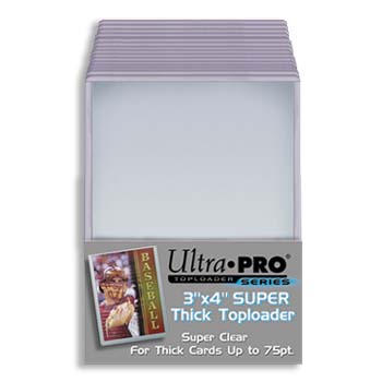 Ultra Pro 3x4 Thick Toploader 75pt - 25ct Pack