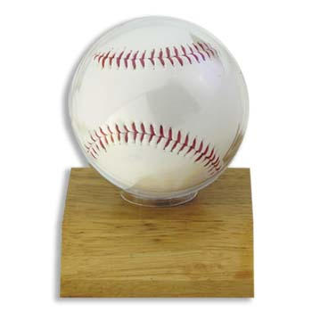 Ultra Pro Ball Holder With Lt. Wood Base