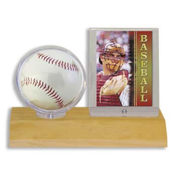 Ultra Pro Wood Base Ball and Card Holder 36 ct Case