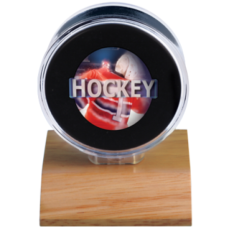 Ultra Pro Lt. Wood Base Puck Holder