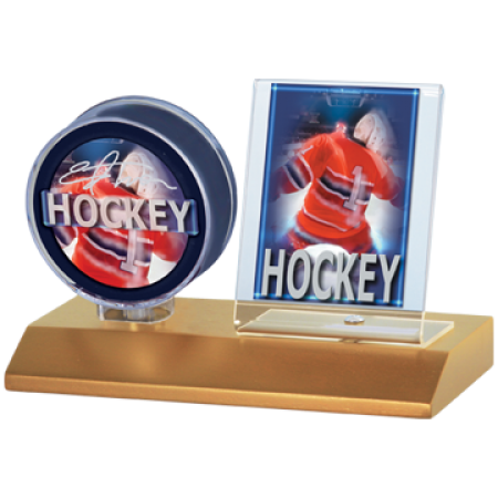 Ultra Pro Lt.Wood Base Puck and Card Holder