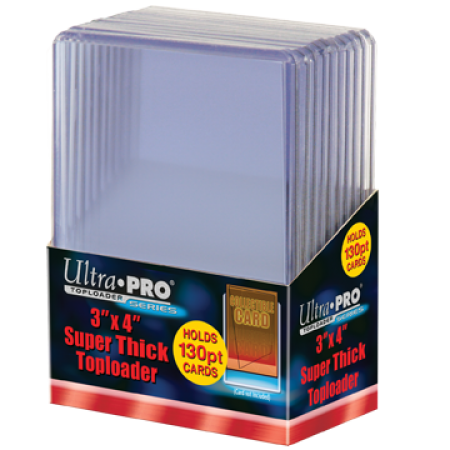 Ultra Pro 3x4 Toploaders 130pt - 10ct Pack