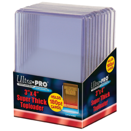 Ultra Pro 3x4 Toploaders 180pt - 10ct. Pack