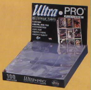 Ultra Pro Platinum 9 Pocket Pages - 100 ct Box