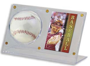 Ultra-Pro Acrylic Ball & Card Holder