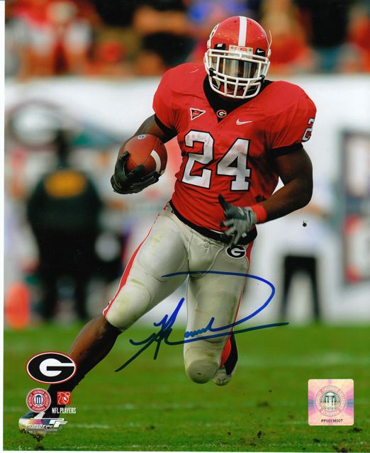 Knowshon Moreno 8x10 Red Jersey Photo Autograph
