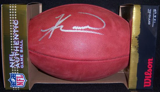 Knowshon Moreno Authentic NFL Football Autograph
