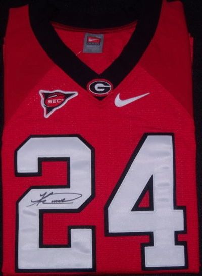 Knowshon Moreno Red Authentic Jersey Autograph
