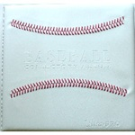 "3"" Baseball Album with Red Stitching"