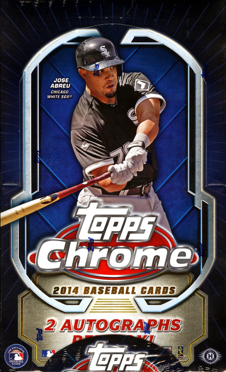 2014 Topps Chrome Baseball Box